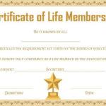 Free Life Membership Certificate Templates | Certificate Regarding New Member Certificate Template