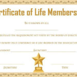 Free Life Membership Certificate Templates | Certificate with regard to Life Membership Certificate Templates