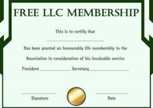 Free Llc Membership Certificate Template | Certificate with regard to Llc Membership Certificate Template Word