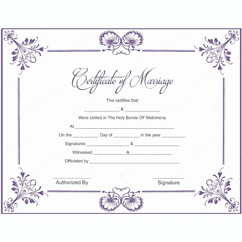 Free Marriage Certificate Download Lovely 10 Marriage throughout Marriage Certificate Template Word 10 Designs