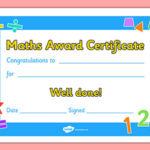 Free! – Maths Award Certificate (Teacher Made) With Regard To New Math Award Certificate Templates