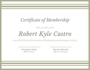 Free Membership Certificates Templates To Customize | Canva within New Member Certificate Template