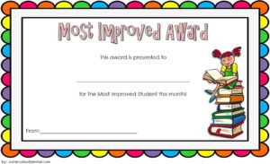Free Most Improved Student Award Certificate Template 2 for Great Job Certificate Template Free 9 Design Awards