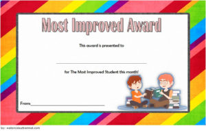 Free Most Improved Student Award Certificate Template 3 regarding Most Improved Student Certificate