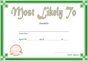 Free Most Likely To Certificate Template 7 In 2020 for Free Most Likely To Certificate Templates