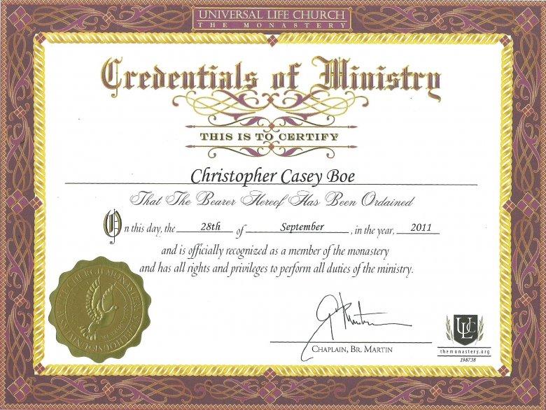 Free Ordination Certificate Template (7) - Templates Example pertaining to Ordination Certificate Template