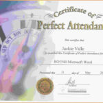 Free Perfect Attendance Certificate Template   Perfect Inside Perfect Attendance Certificate Template Free