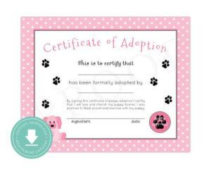 Free Pet Adoption Certificate Printable – Pet'S Gallery pertaining to Quality Dog Adoption Certificate Free Printable 7 Ideas