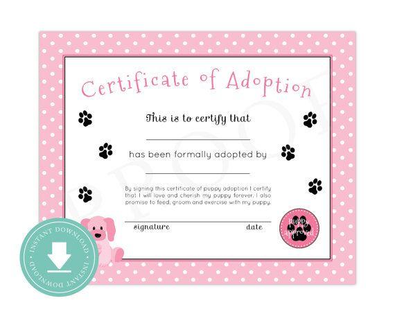 Free Pet Adoption Certificate Printable - Pet'S Gallery pertaining to Quality Dog Adoption Certificate Free Printable 7 Ideas