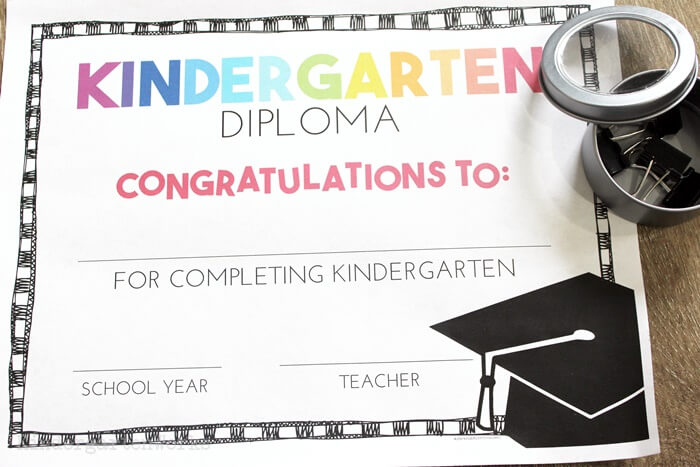 Free Pre-K And Kindergarten Graduation Diplomas - Teach Junkie within Printable Kindergarten Diploma Certificate