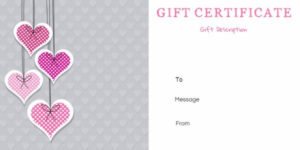 Free Printable Anniversary Gift Vouchers – Customize Online in Anniversary Gift Certificate