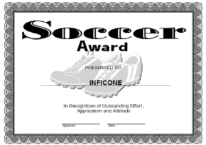 Free Printable Award Certificate Template   Certificate throughout Soccer Certificate Template Free 21 Ideas