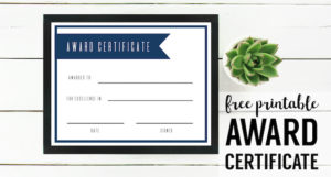 Free Printable Award Certificate Template | Paper Trail Design throughout Free Printable Blank Award Certificate Templates