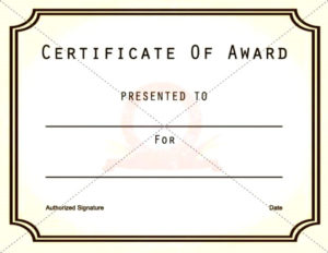 Free Printable Award Certificate Templates throughout New Free Printable Blank Award Certificate Templates
