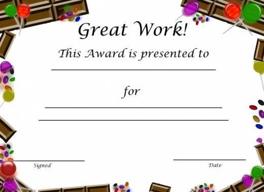 Free Printable Award Certificates For Kids | Free Printable with Free Printable Certificate Templates For Kids