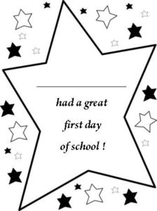 Free Printable Back To School Certificates, Stars First Day with regard to First Day Of School Certificate Templates Free
