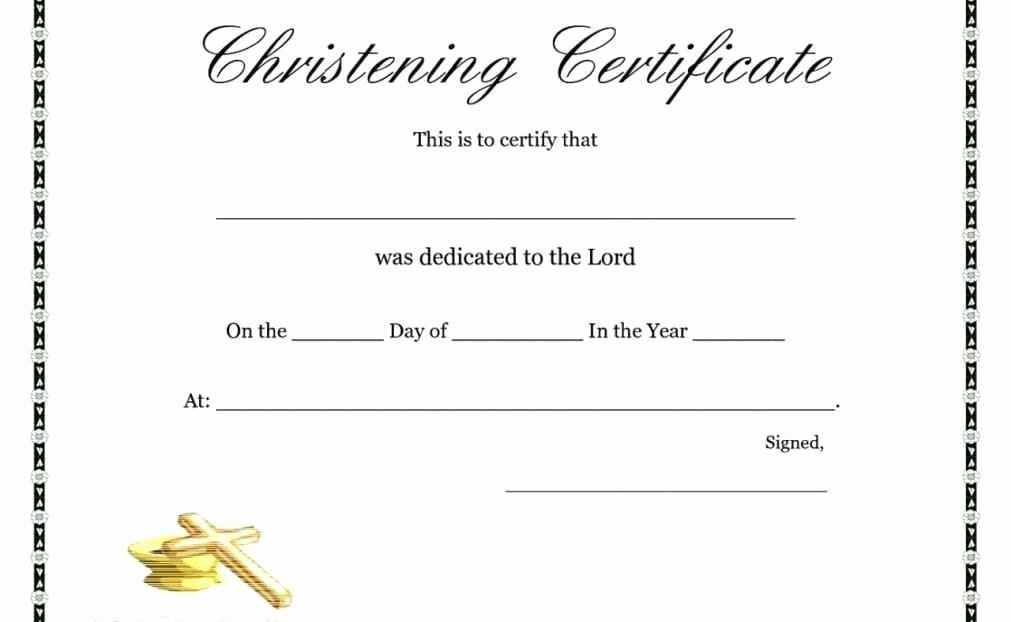 Free Printable Baptism Certificates Fresh Free Printable with Baptism Certificate Template Word 9 Fresh Ideas