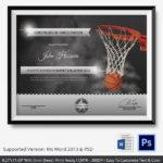 Free Printable Basketball Certificates Best Of Basketball For New Baseball Certificate Template Free 14 Award Designs