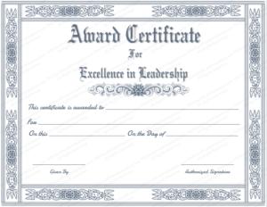 Free Printable Best Leader Award Certificate Template within New Leadership Award Certificate Template