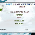 Free Printable Boot Camp Certificate | Certificate Templates Intended For Boot Camp Certificate Template