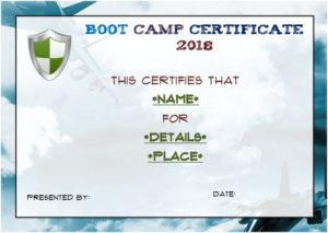 Free Printable Boot Camp Certificate | Certificate Templates intended for Boot Camp Certificate Template