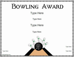 Free Printable Bowling Certificates Beautiful Free Ten Pin inside Best Bowling Certificate Template