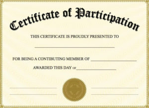 Free Printable Certificate Of Participation | Certificate Of throughout New Participation Certificate Templates Free Printable
