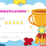 Free Printable Certificate Template For Kids – بالعربي نتعلم For Best Free Kids Certificate Templates
