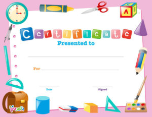 Free Printable Certificate Template For Kids ⋆ بالعربي نتعلم within Certificate Of Achievement Template For Kids