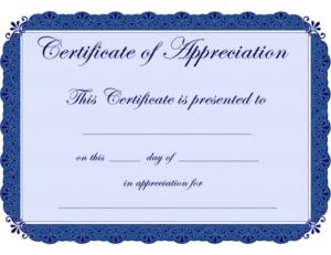 Free Printable Certificates Certificate Of Appreciation With within Best Certificate Of Appreciation Template Free Printable
