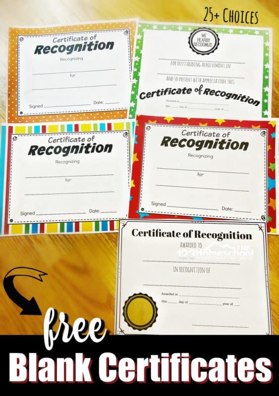 Free Printable Certificates for Free Printable Certificate Of Achievement Template