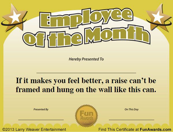 Free Printable Certificates - Funny Printable Certificates for Best Free Funny Award Certificate Templates For Word