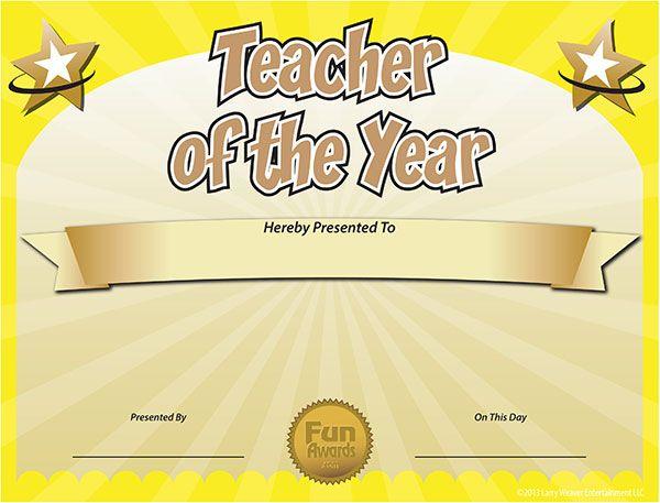 Free Printable Certificates - Funny Printable Certificates in Best Teacher Certificate Templates Free