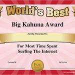 Free Printable Certificates – Funny Printable Certificates Inside Most Likely To Certificate Template 9 Ideas