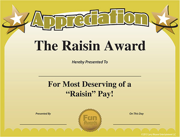Free Printable Certificates - Funny Printable Certificates regarding Best Free Funny Award Certificate Templates For Word