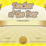 Free Printable Certificates – Funny Printable Certificates With New Best Teacher Certificate Templates