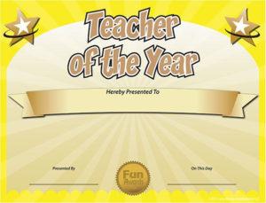 Free Printable Certificates – Funny Printable Certificates with New Best Teacher Certificate Templates