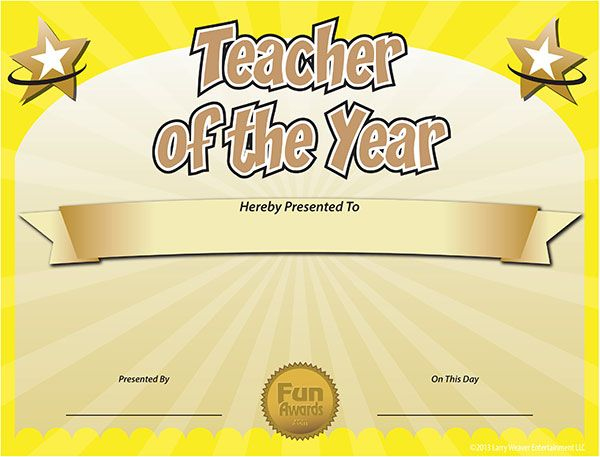 Free Printable Certificates - Funny Printable Certificates with New Best Teacher Certificate Templates