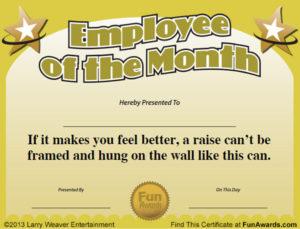 Free Printable Certificates – Funny Printable Certificates with regard to Funny Certificates For Employees Templates
