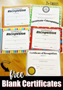 Free Printable Certificates within New Printable Certificate Of Recognition Templates Free