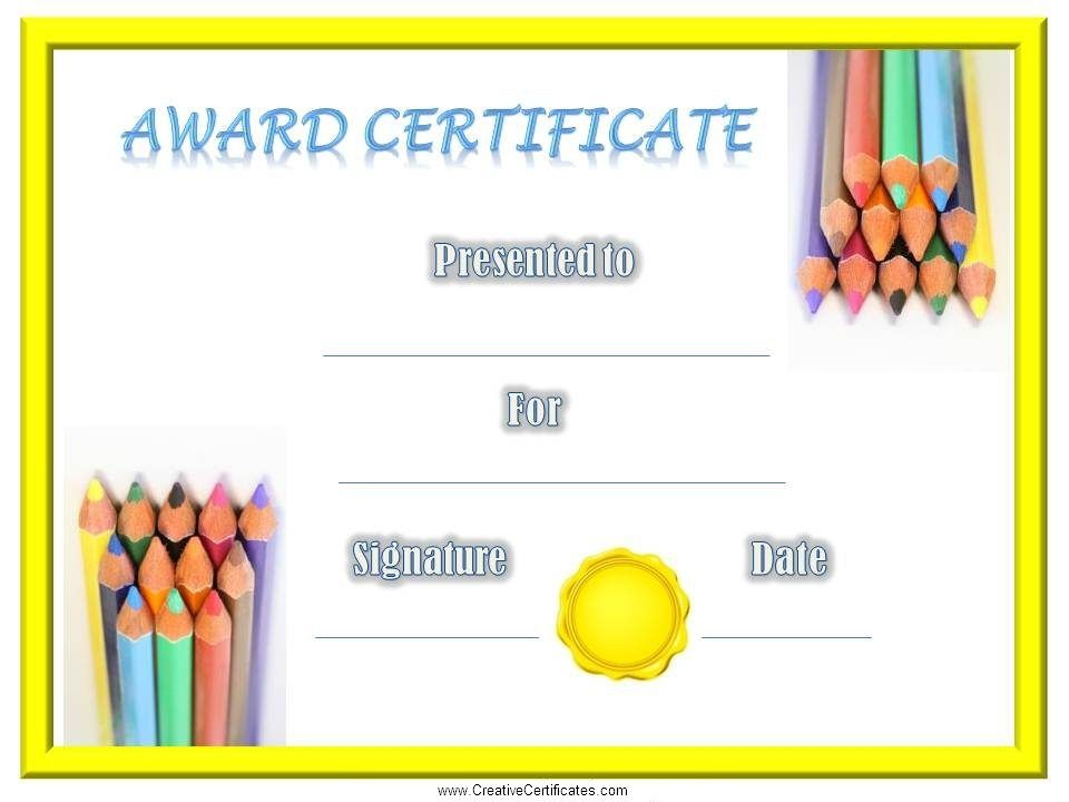 Free Printable Children'S Certificates. Most Of The Kids within Free Printable Certificate Templates For Kids