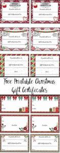 Free Printable Christmas Gift Certificates: 7 Designs, Pick regarding Free Printable Best Husband Certificate 7 Designs