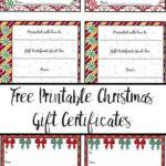 Free Printable Christmas Gift Certificates: 7 Designs, Pick Regarding Valentine Gift Certificates Free 7 Designs