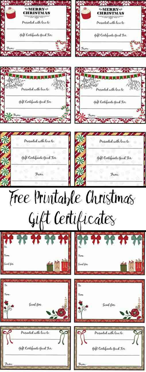 Free Printable Christmas Gift Certificates: 7 Designs, Pick with regard to Fresh Free Printable Best Wife Certificate 7 Designs