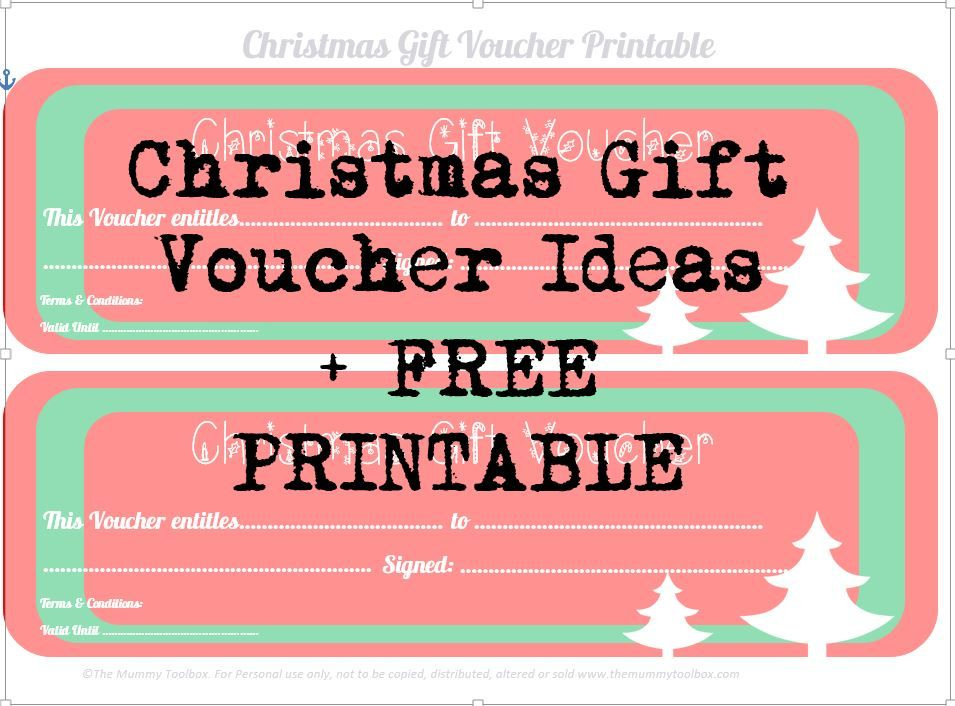 Free Printable Christmas Gift Vouchers | Christmas Gift for Fresh Homemade Christmas Gift Certificates Templates
