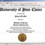 Free Printable College Diploma | Fake Diploma, Fake Degrees Regarding Best University Graduation Certificate Template