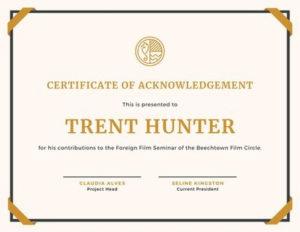 Free, Printable Custom Participation Certificate Templates in Free Templates For Certificates Of Participation