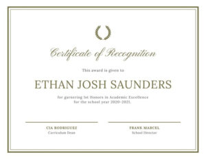 Free, Printable, Customizable Recognition Certificate with regard to Unique Template For Recognition Certificate