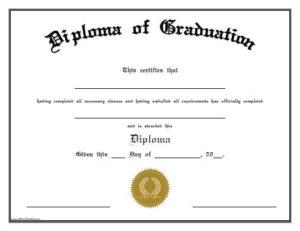 Free Printable Diploma Of Graduation. Free Printable Diploma intended for Quality Free Printable Graduation Certificate Templates