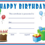 Free Printable Gift Certificate Forms   Free Certificates with Unique Happy Birthday Gift Certificate